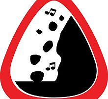 Guitar Pick / Plectrum: Traffic sign falling rocks by kadosafia