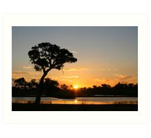 Sunset, Porongurup, Western Australia Art Print