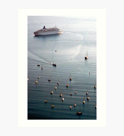 Liner and Yachts Art Print