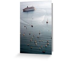 Liner and Yachts Greeting Card