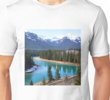 Canadian Rockies by the River Unisex T-Shirt