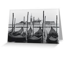 Gondolas of San Marco Greeting Card
