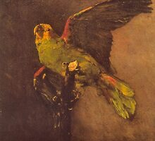 'Parrot' by Vincent Van Gogh (Reproduction) by Roz Abellera Art Gallery