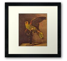 'Parrot' by Vincent Van Gogh (Reproduction) Framed Print