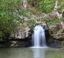 Kondailla Falls Qld  Australia by Jeannine de Wet