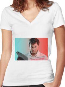 Dexter Morgan Women's Fitted V-Neck T-Shirt