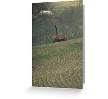 Farming and plowing time again Greeting Card