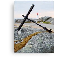 Peggy's Cove Light Canvas Print