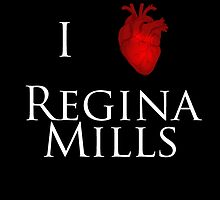 I Heart Regina Mills - White Print by OliveTreeHouse