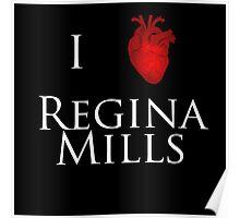 I Heart Regina Mills - White Print Poster