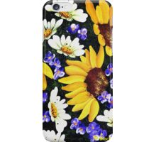 Sunflowers - white daisies - purple flowers  iPhone Case/Skin