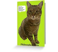 Philosopher Tabs Greeting Card
