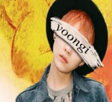 Yoongi/Suga BTS Comback print Sticker