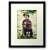 retro boy Framed Print