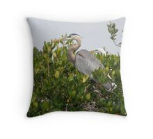 Guarding the roost Throw Pillow