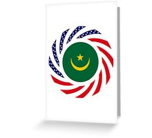 Mauritanian American Multinational Patriot Flag Series Greeting Card