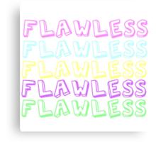 Flawless Canvas Print