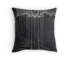 Refracture of the False Mend // Whiteline Throw Pillow
