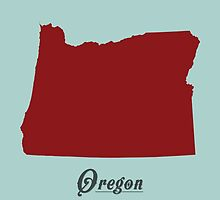Oregon - States of the Union by Michael Bowman