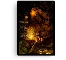 Spooky forest Canvas Print