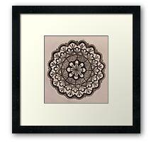Hand -drawn  Mandala Framed Print