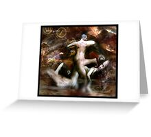 as I wrestle with my self... Greeting Card