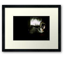 50;s fire Framed Print