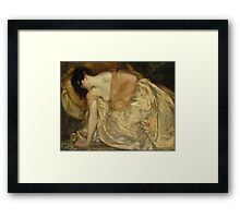'The Princess and the Frog' by Bluemenschein (Reproduction) Framed Print