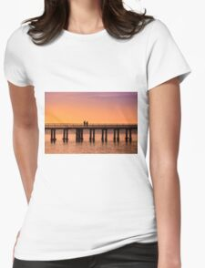 Dromana Pier - couple Womens Fitted T-Shirt