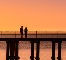 Dromana Pier - couple Sticker
