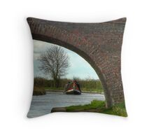 Bridge 38 Ashby Canal Throw Pillow