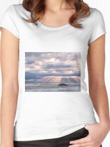 Light rays - Sorrento - Mornington Peninsula Women's Fitted Scoop T-Shirt