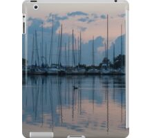 Pink and Blue Peace - Still Sailboat Reflections  iPad Case/Skin