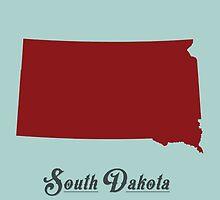 South Dakota - States of the Union by Michael Bowman