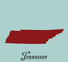 Tennessee - States of the Union by Michael Bowman