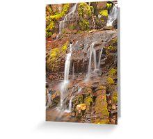 Falling freshwater Greeting Card