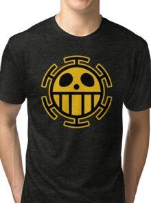Trafalgar Law Heart Pirates Logo Tri-blend T-Shirt