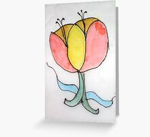 Floating Flowers Greeting Card