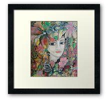 Living in Colour Portrait Framed Print