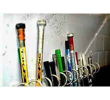 Hockey Sticks Photographic Print