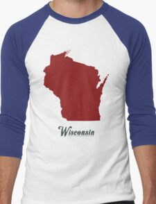 Wisconsin - States of the Union Men's Baseball ¾ T-Shirt