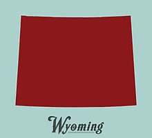 Wyoming - States of the Union by Michael Bowman