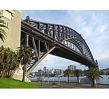Dawes Point view of the Sydney Harbour Bridge Photographic Print