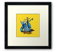 Shovel Knight: Cut-Out Framed Print