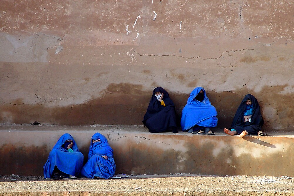 LADIES AT THE WALL - MOROCCO by Michael Sheridan