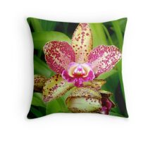 Leopard in Pink Throw Pillow