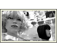Two Plastic Heads  Photographic Print