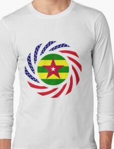 Togo American Multinational Patriot Flag Series Long Sleeve T-Shirt