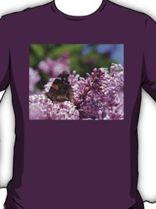 Butterfly In The Lilacs T-Shirt