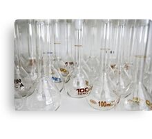 Belly test tubes standing in a chemistry lab Canvas Print